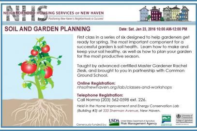 Winter Garden Workshop: Soil U0026 Garden Planning