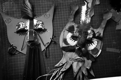 masks from Beckie Kravetz workshop